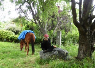 Kleine Rast in El Hoyo